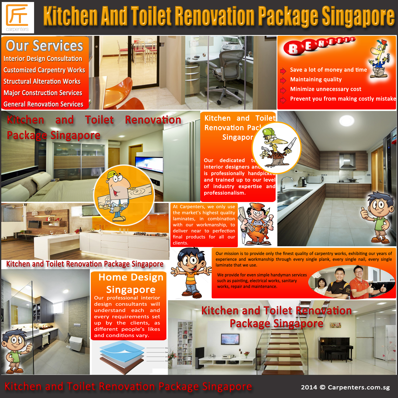 exceptional Kitchen Remodel Packages #3: Kitchen And Toilet Renovation Package Singapore | Carpenters .
